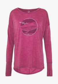 Mons Royale - ESTELLE RELAXED - Langærmede T-shirts - rosewood - 4