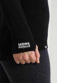 Mons Royale - CORNICE HALF ZIP - Maglietta intima - black - 6