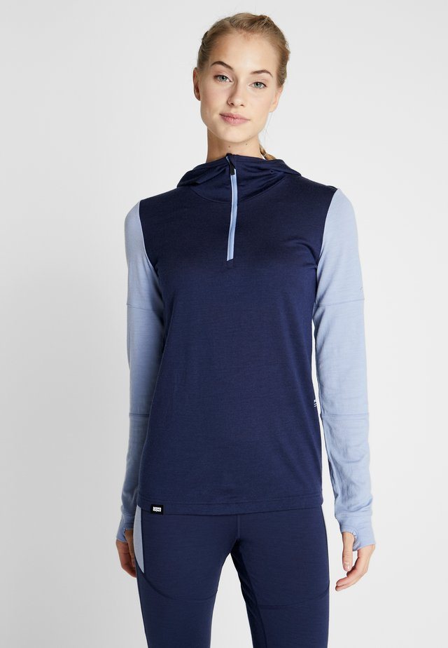 CORNICE HOOD - Unterhemd/-shirt - navy/blue fog