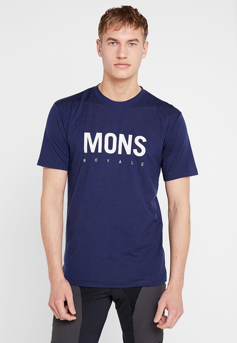 Mons Royale - ICON - Print T-shirt - navy