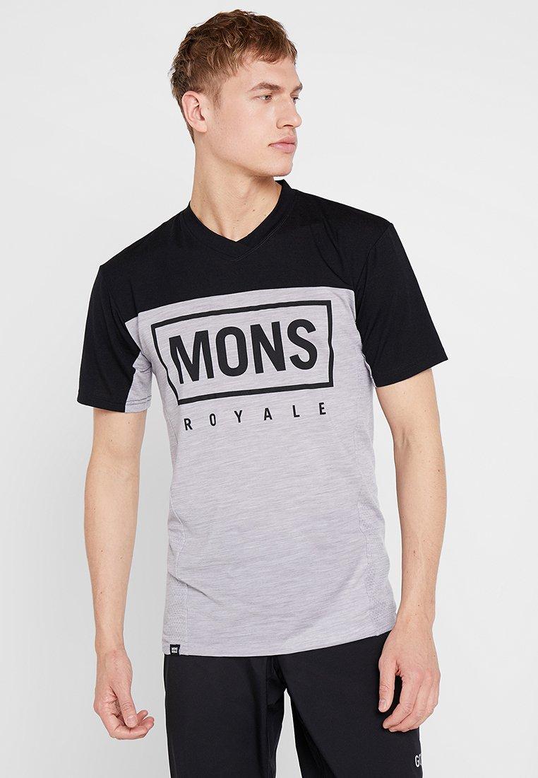 Mons Royale - REDWOOD ENDURO - Camiseta estampada - black/grey marl