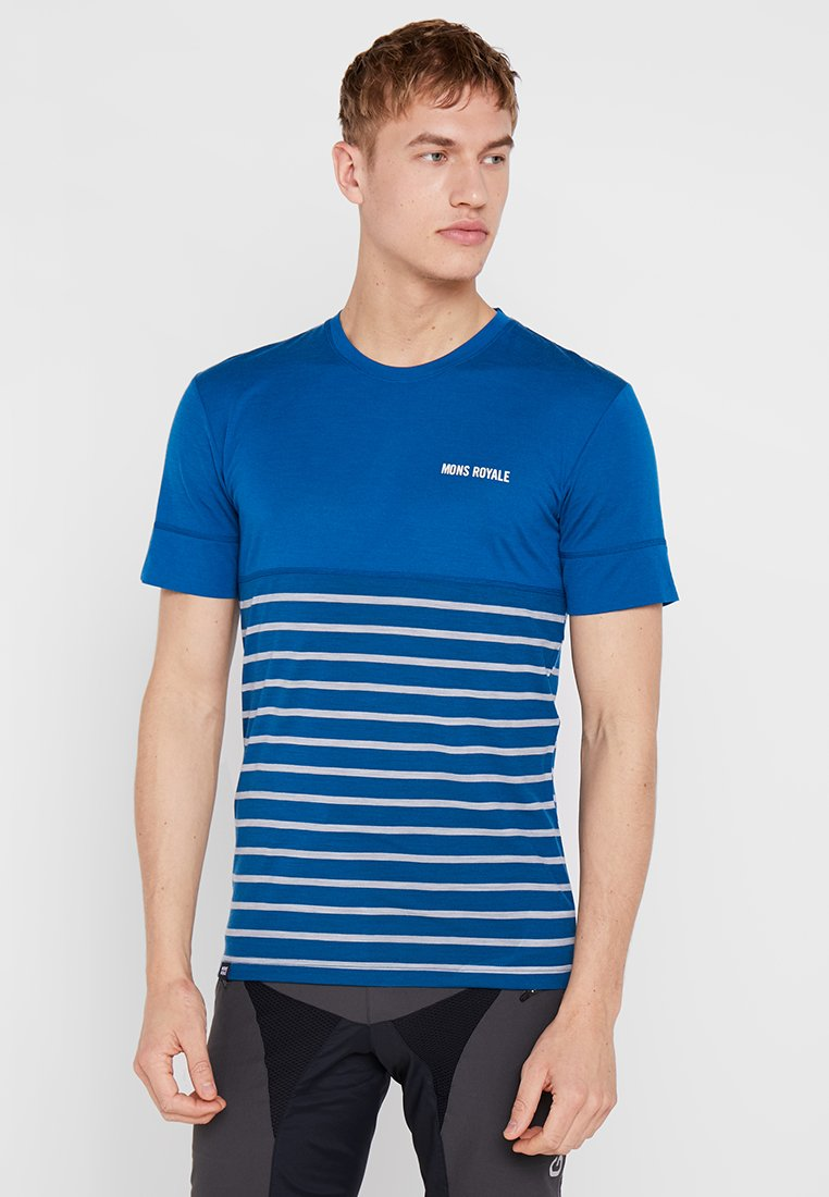 Mons Royale - CADENCE  - T-shirt con stampa - oily blue
