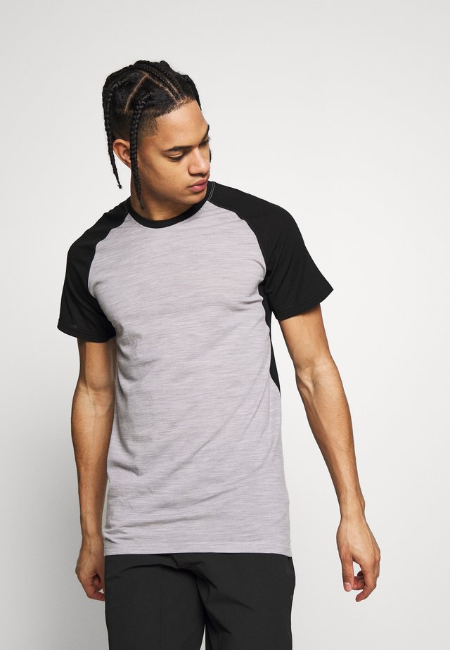 TEMPLE TECH - T-shirt con stampa - black/grey marl