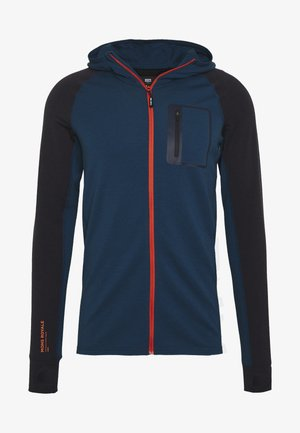 TRAVERSE MIDI FULL ZIP HOOD - Sweatjakke /Træningstrøjer - atlantic/orange smash