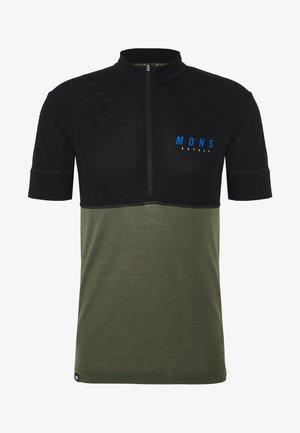 CADENCE HALF ZIP - Print T-shirt - black/olive