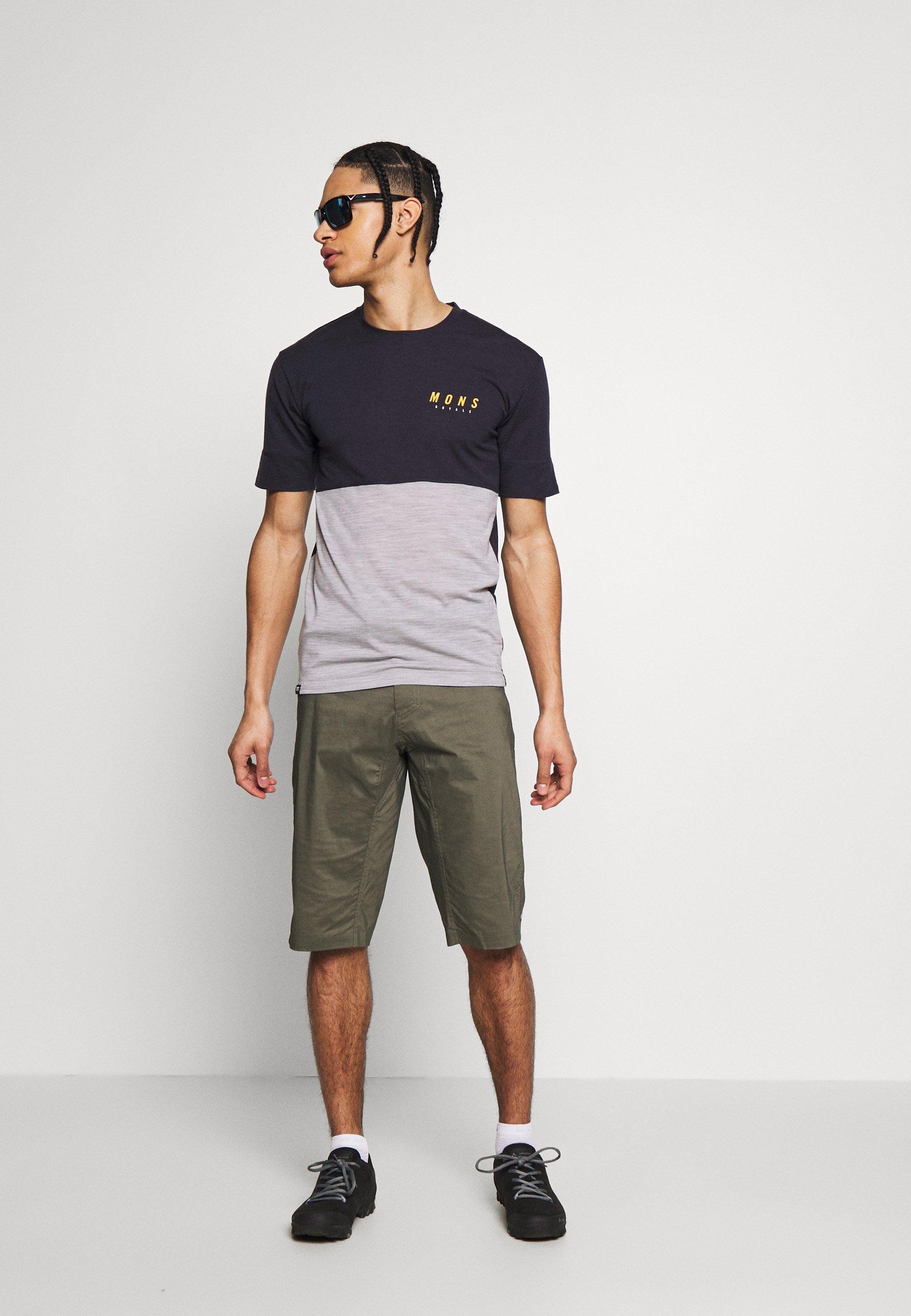 Mons Royale CADENCE - T-shirt imprimé - iron/grey marl