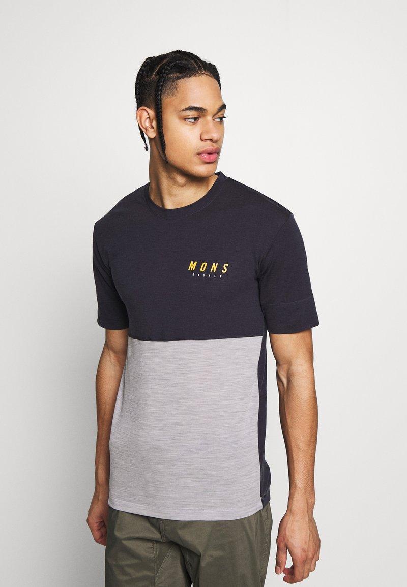Mons Royale - CADENCE - T-Shirt print - iron/grey marl