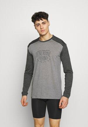 VAPOUR - Sports shirt - smoke/grey