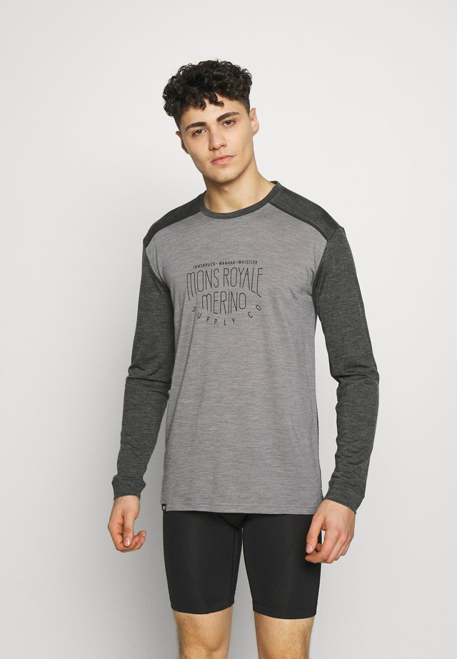 VAPOUR - T-shirt sportiva - smoke/grey