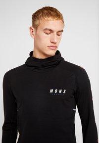 Mons Royale - OLYMPUS HOOD - Camiseta de deporte - black - 3