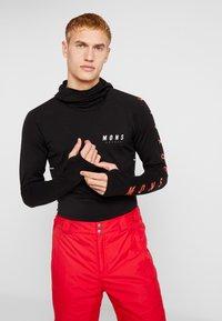 Mons Royale - OLYMPUS HOOD - Camiseta de deporte - black - 0