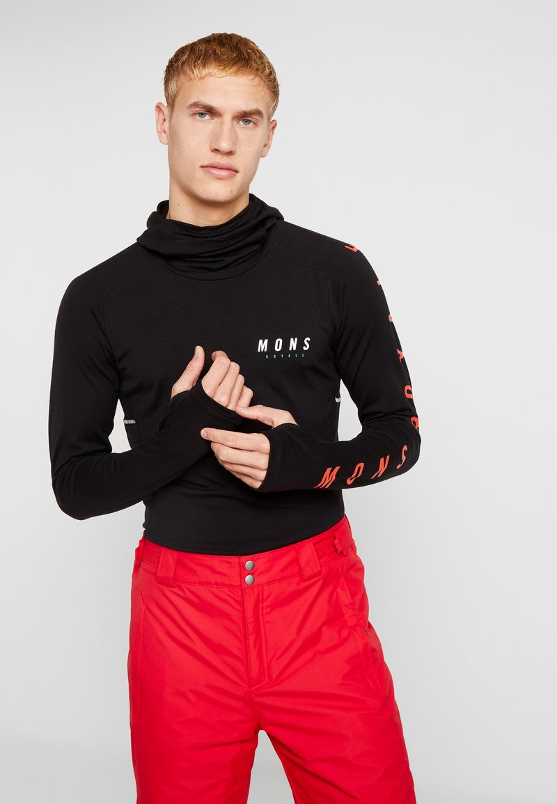 Mons Royale - OLYMPUS HOOD - Camiseta de deporte - black