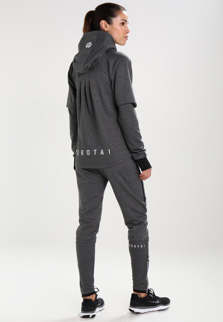 MOROTAI - NAKA COMFY PERFORMANCE HOODIE - Sweatjacke - dark grey