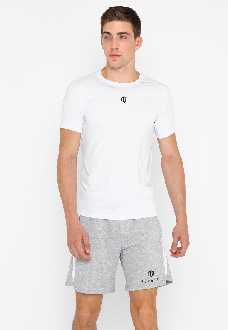 MOROTAI - ENDURANCE BASIC - Print T-shirt - white