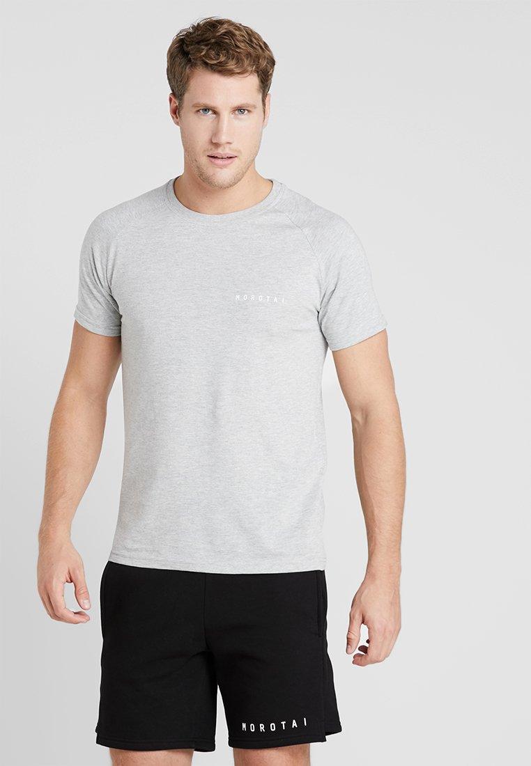 MOROTAI - LOGO BASIC TEE - Basic T-shirt - light grey