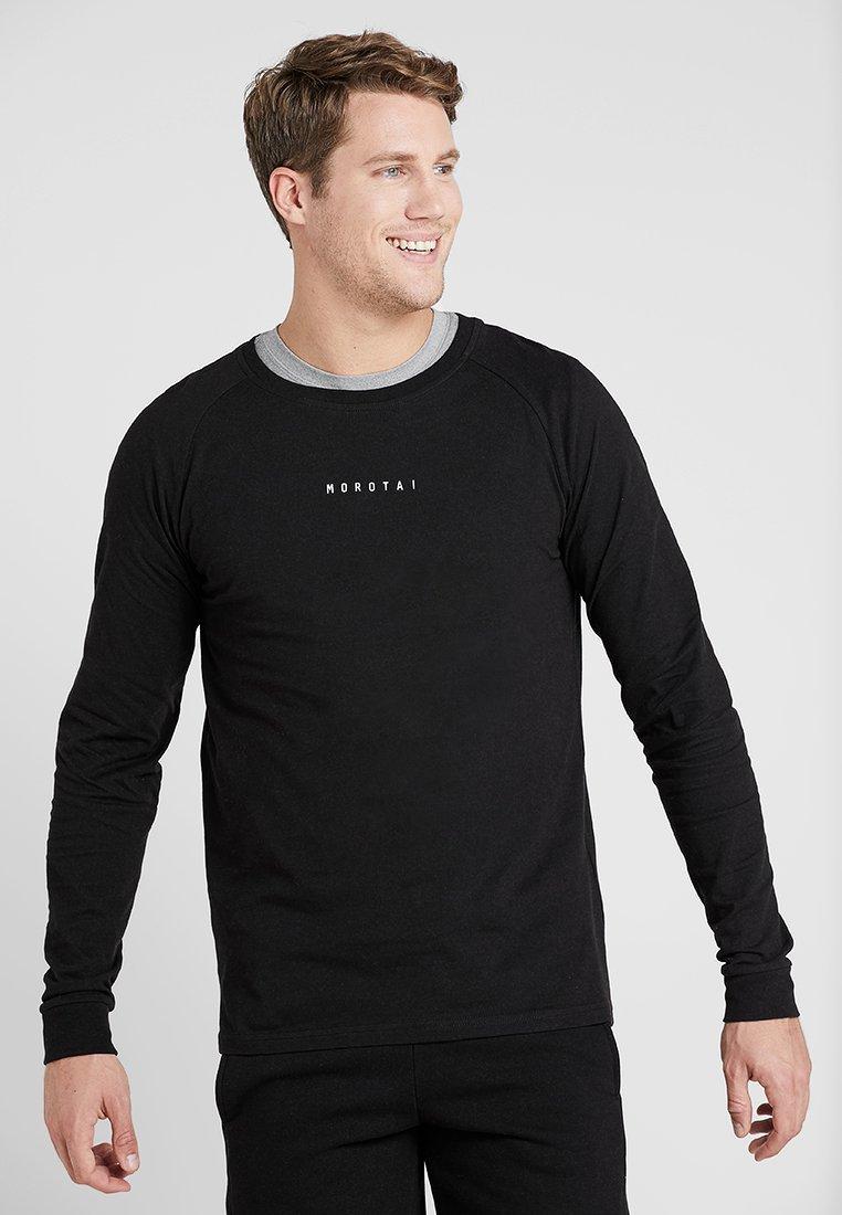 MOROTAI - LOGO BASIC LONG SLEEVE - Long sleeved top - black