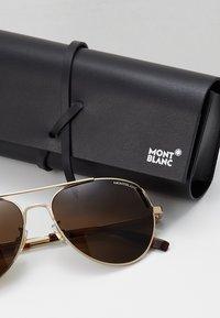 Mont Blanc - Sluneční brýle - gold-coloured/gold-brown - 2
