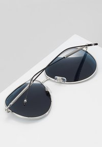 Mont Blanc - Sonnenbrille - silver-coloured/blue