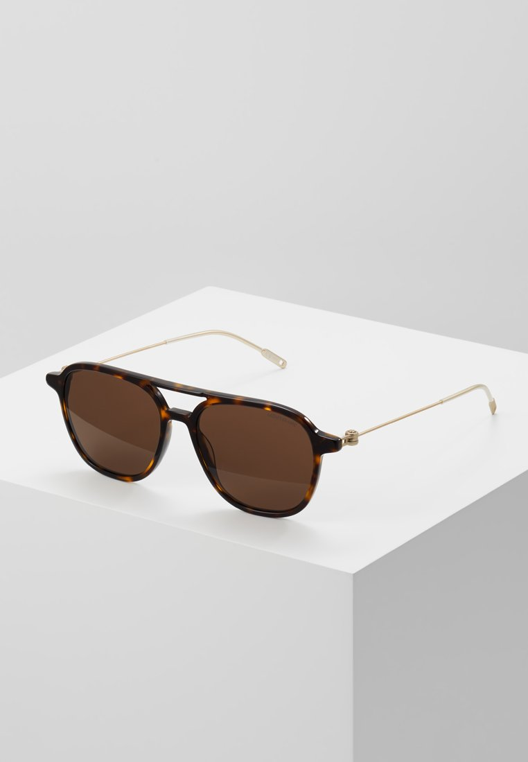 Mont Blanc - Sunglasses - havana/gold-coloured/brown