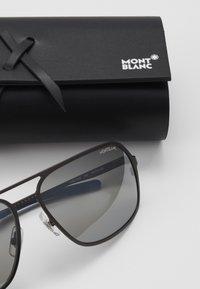 Mont Blanc - Sluneční brýle - ruthenium/silver - 3