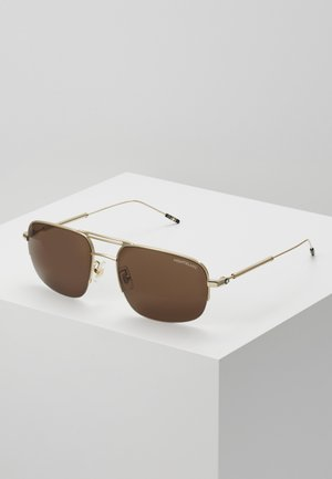 Sonnenbrille - gold/gold/brown
