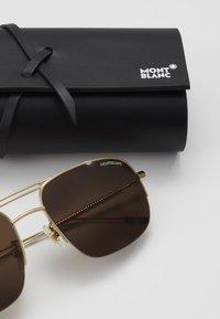 Mont Blanc - Sluneční brýle - gold/gold/brown - 3