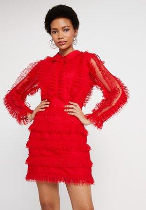 THE MAJESTIC MINI DRESS - Robe de soirée - red