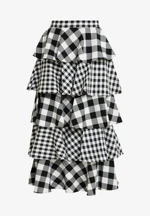 THE CROSS CHECK SKIRT - Falda acampanada - black/white