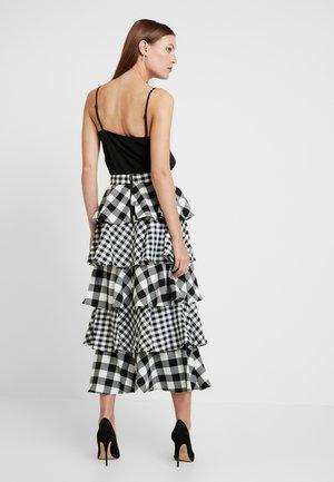 THE CROSS CHECK SKIRT - A-line skirt - black/white