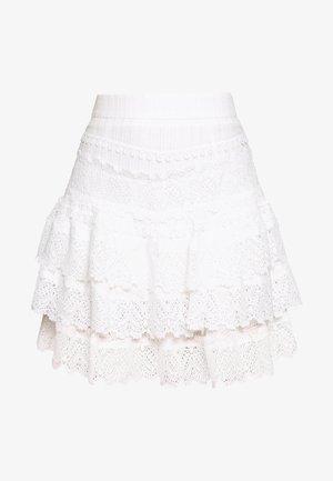 HAVANA NIGHTS SKIRT - Áčková sukně - white
