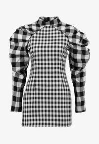 Mossman - THE CROSS CHECK MINI DRESS - Cocktail dress / Party dress - black/white - 3