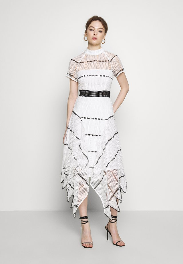 VISION OF YOU DRESS - Długa sukienka - white/black
