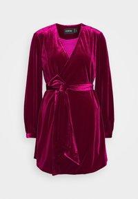 Mossman - THE JAGGER MINI DRESS - Vestito elegante - berry - 0