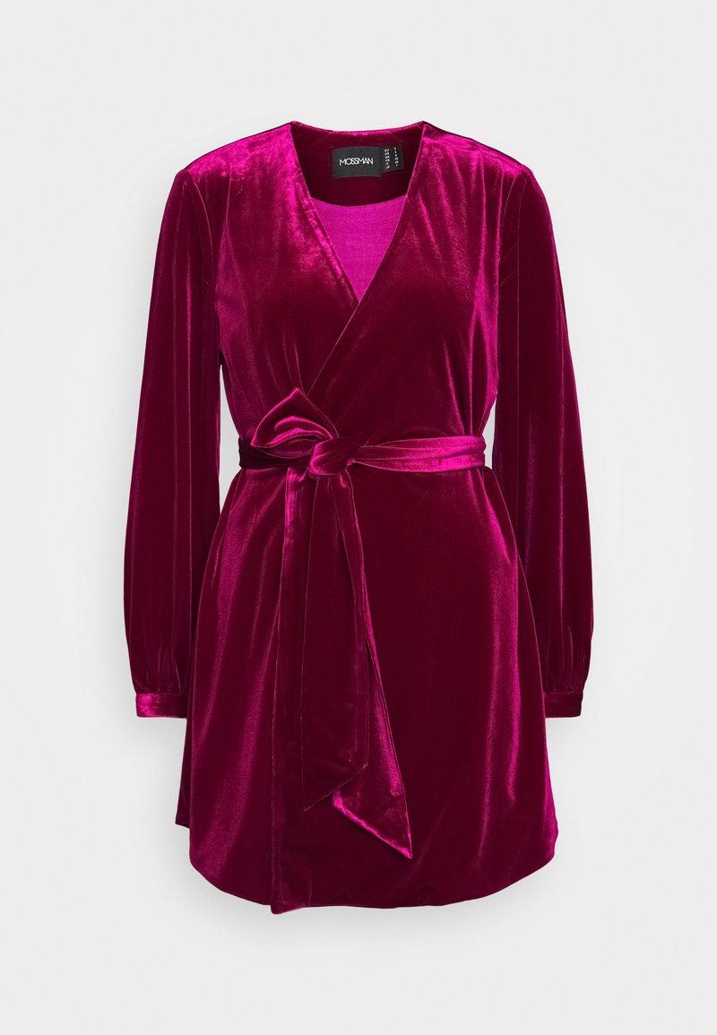 Mossman - THE JAGGER MINI DRESS - Vestito elegante - berry