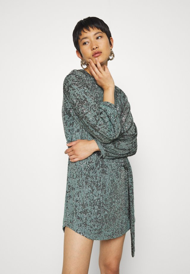 NIGHT FEVER TIE DRESS - Robe de soirée - blue