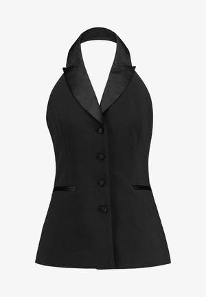THE TUXEDO VEST - Waistcoat - black