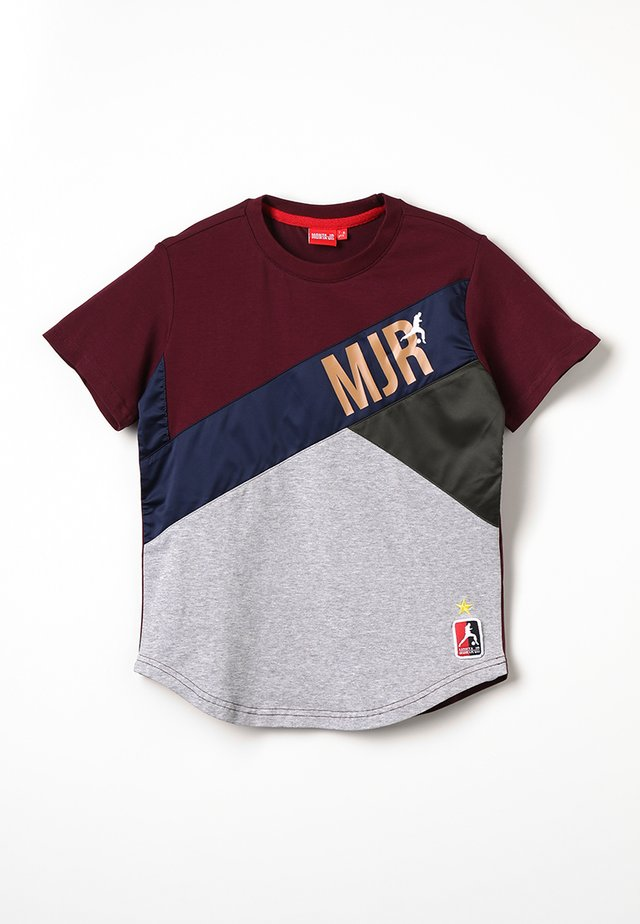 TAILLON - Print T-shirt - burgundy