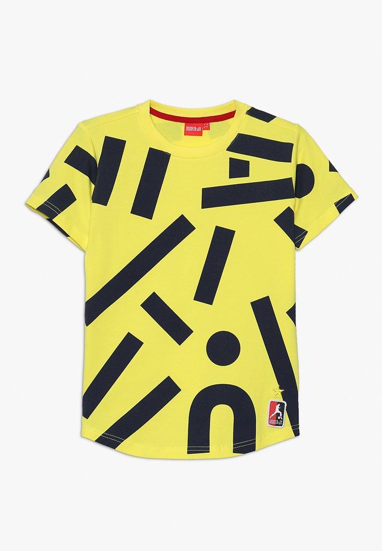 Monta Juniors - TERRY - Print T-shirt - yellow/navy