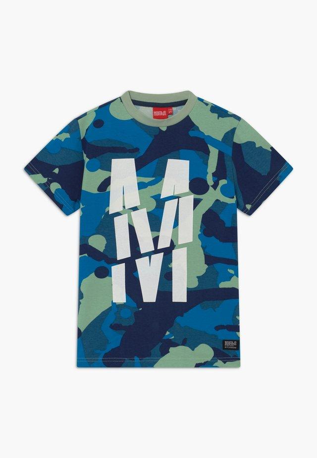 TRENTO - T-shirt med print - blue mist