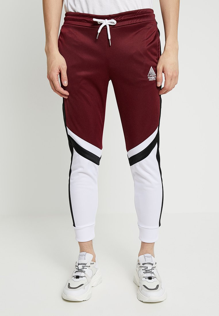 Modern Native - BOTTOM - Jogginghose - bordeaux/white