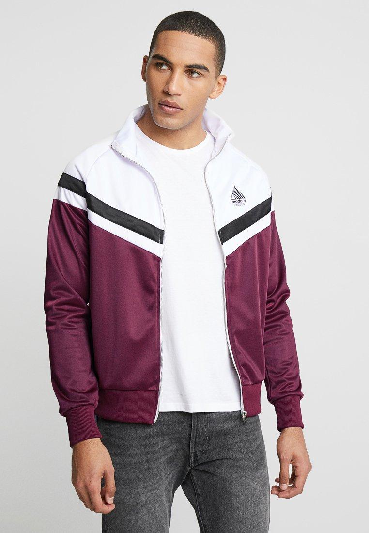 Modern Native - Training jacket - bordeaux/white