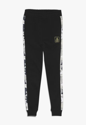 LOOPBACK BOTTOMS WITH PRINTED SIDE PANEL - Jogginghose - black