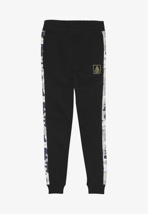 LOOPBACK BOTTOMS WITH PRINTED SIDE PANEL - Pantalon de survêtement - black