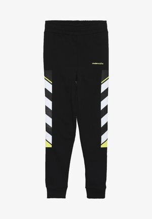 LOOPBACK WITH PRINTED SIDE - Pantaloni sportivi - black