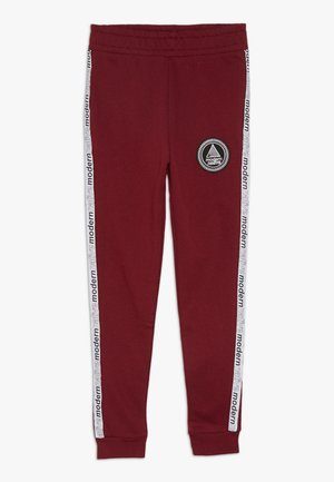 LOOPBACK WITH TAPING AND LOGO - Trainingsbroek - burgundy