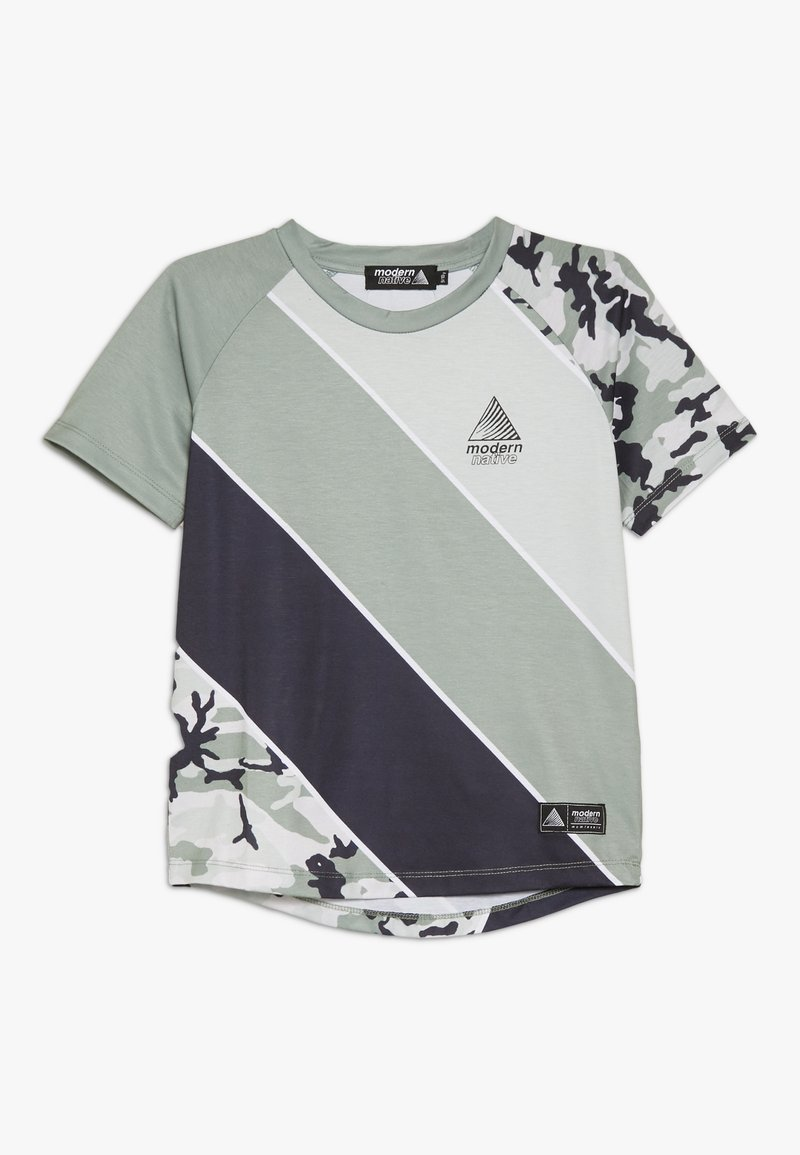 Modern Native - SUB TEE - Print T-shirt - green