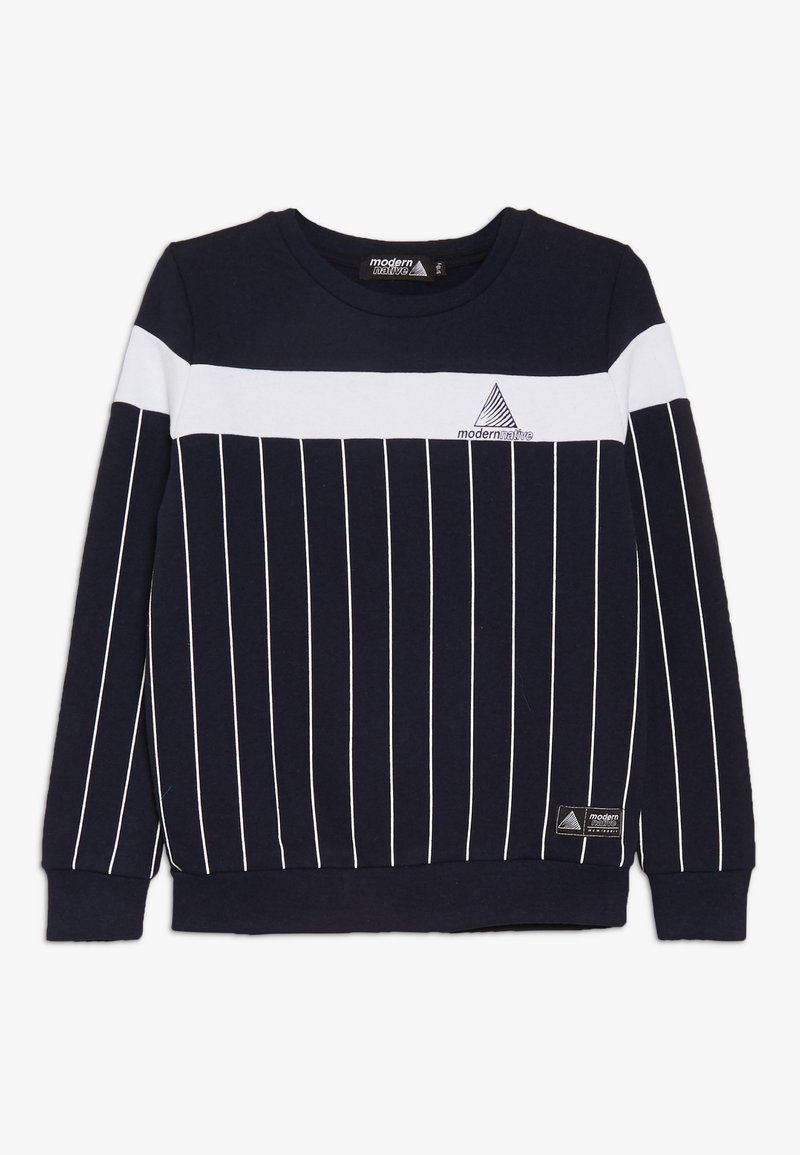 Modern Native - COLOUR BLOCK WITH SCREEN PRINTED STRIPES - Sweatshirt - blue