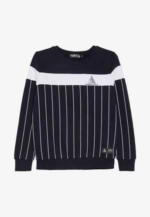 COLOUR BLOCK WITH SCREEN PRINTED STRIPES - Mikina - blue