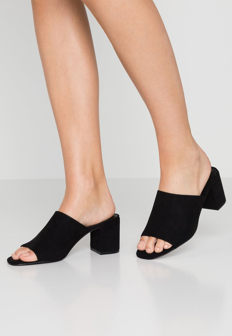 Monki - SARAH - Heeled mules - black