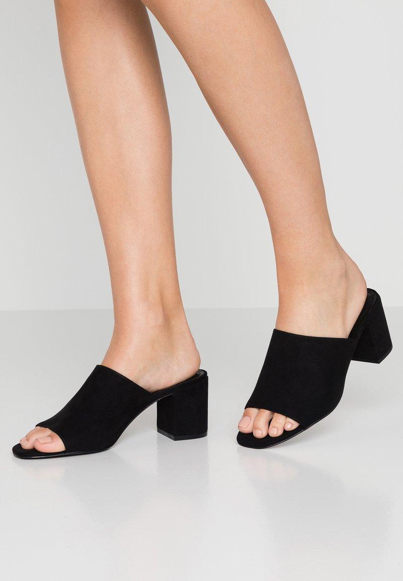 Monki - SARAH - Heeled mules - black